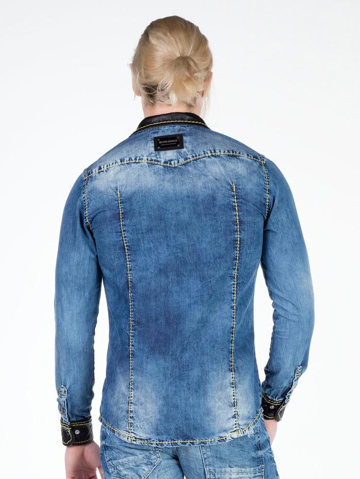 Рубашка Cipo&Baxx CH129 Синяя