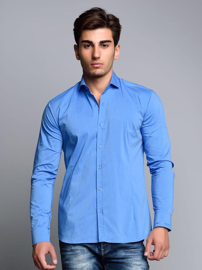 Рубашка Cipo&Baxx CH113 Синяя