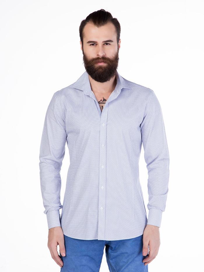 Рубашка Cipo&Baxx CH119 Голубая