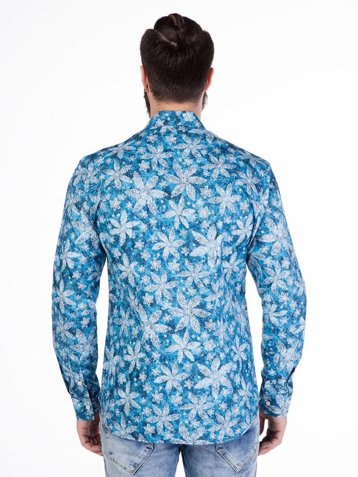 Рубашка Cipo&Baxx CH123 Синяя