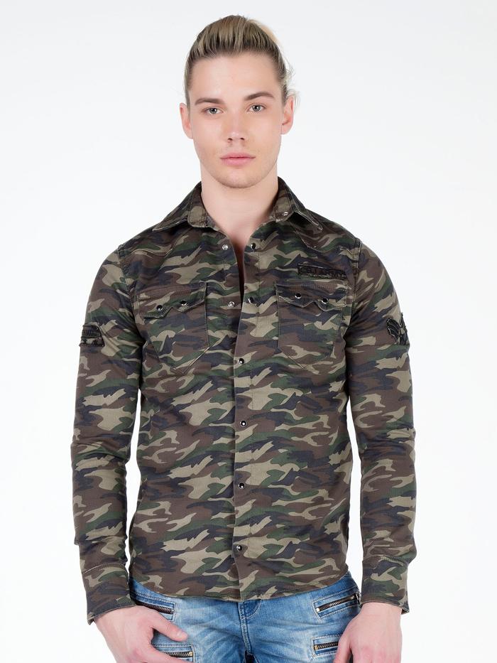 Рубашка Cipo&Baxx CH130 Зеленая