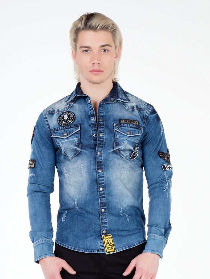 Рубашка Cipo&Baxx CH134 Синяя