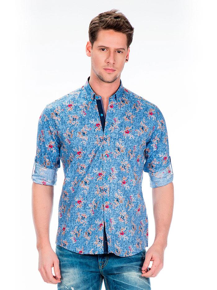 Рубашка Cipo&Baxx CH146 Синяя