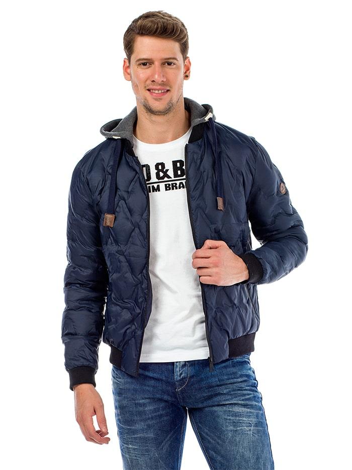 Куртка демисезонная Cipo&Baxx CM152 Темно-синяя