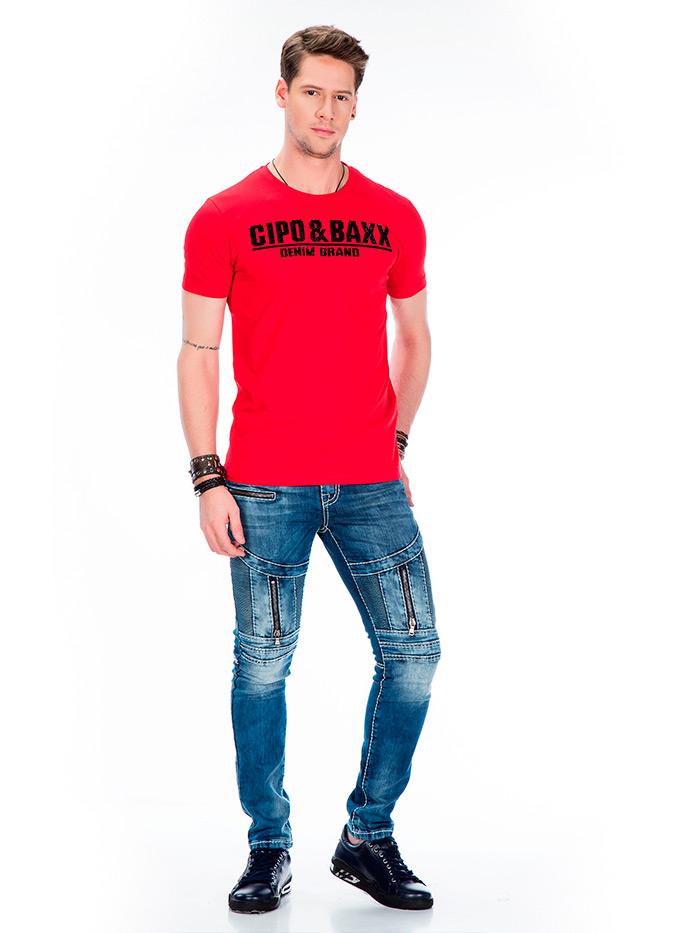Футболка Cipo&Baxx CT358 Красная